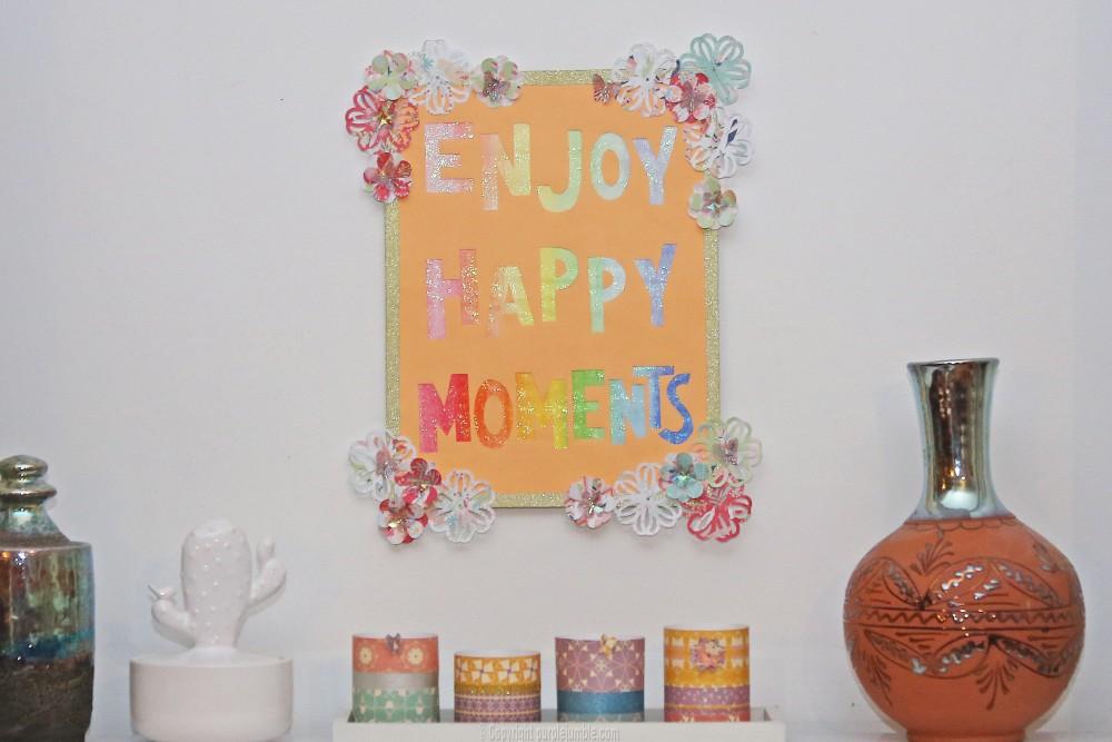 affiche enjoy happy moments projet final