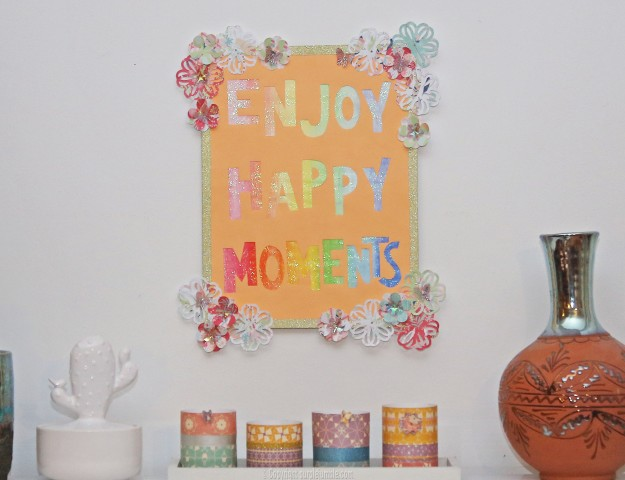affiche enjoy happy moments projet final
