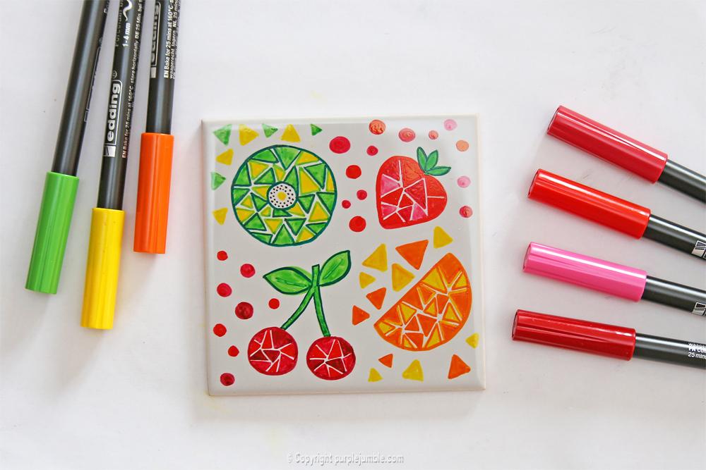 diy céramique fruits géométriques tutti frutti
