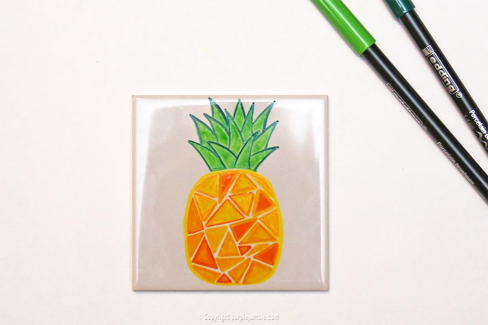 diy céramique fruits géométriques ananas