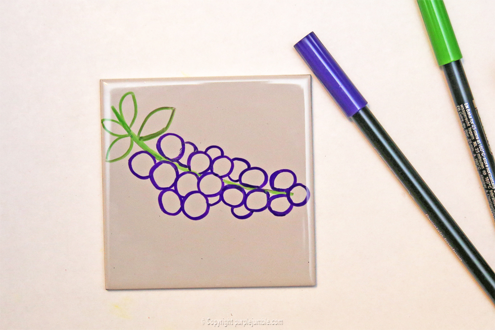 diy céramique fruits géométriques myrtilles