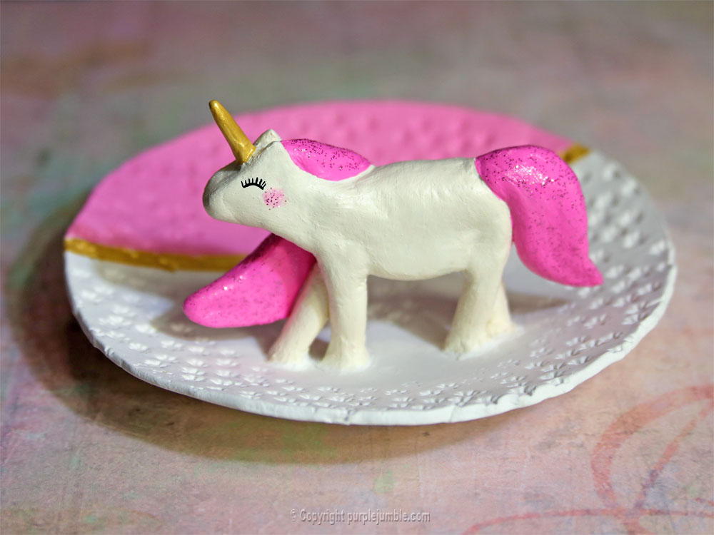 diy coupelle licorne fimo