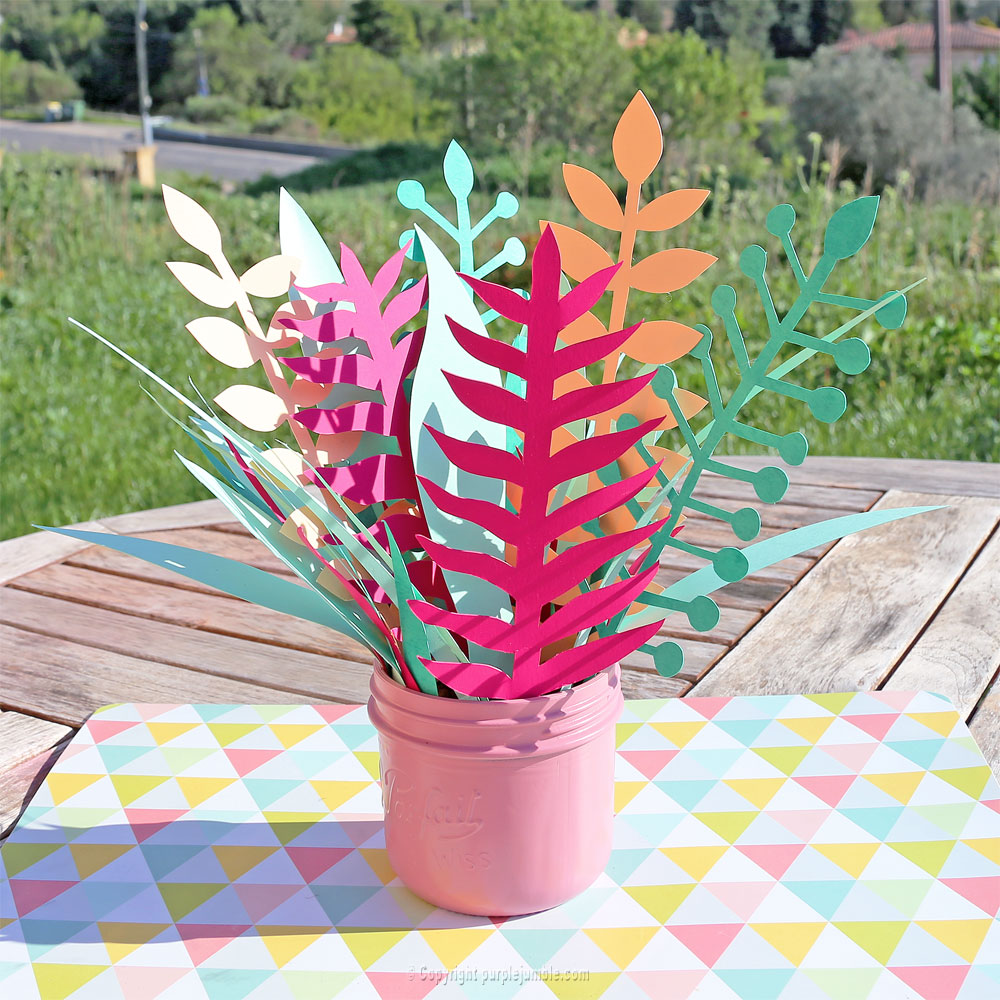 bouquet plantes papier jardin