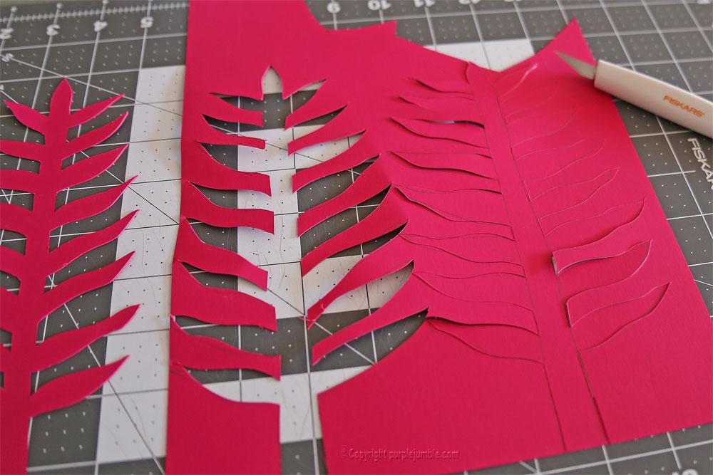 bouquet plantes papier fushia
