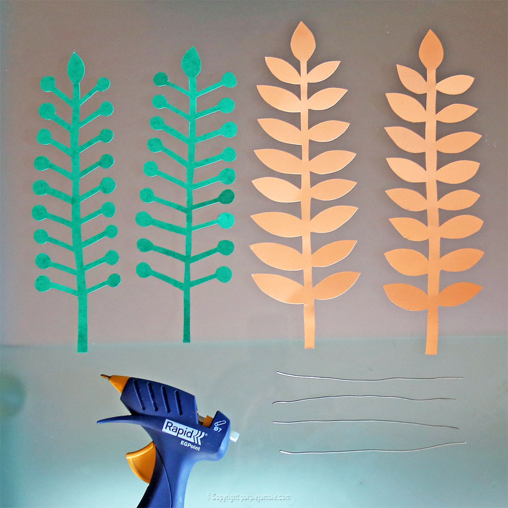 bouquet plantes papier fil fer