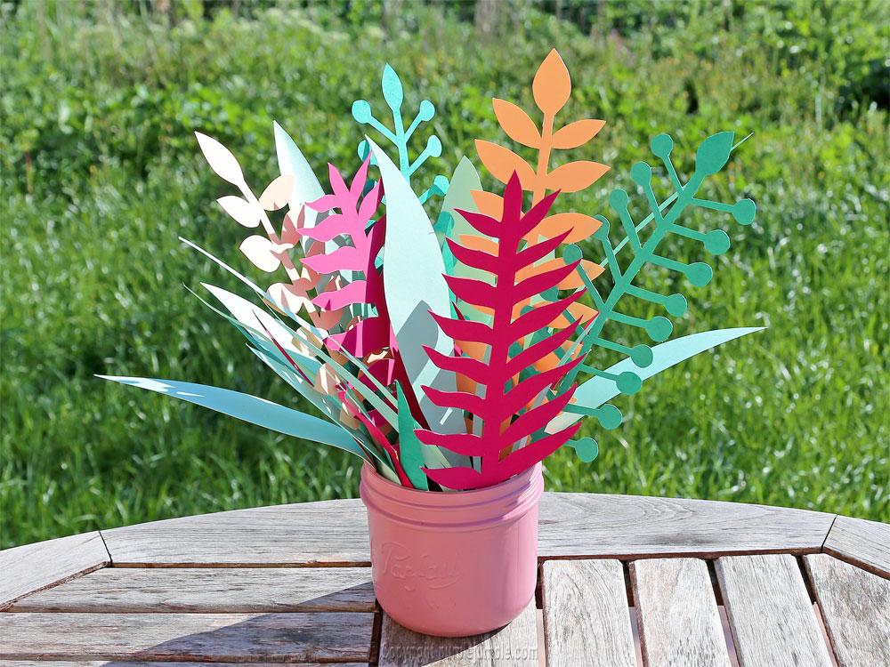 bouquet plantes papier fini