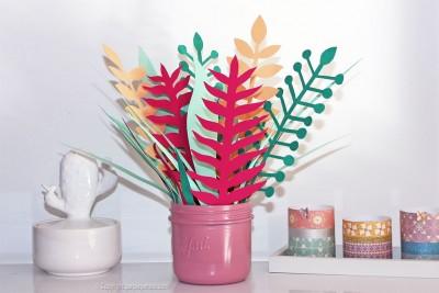 bouquet plantes papier photo finale