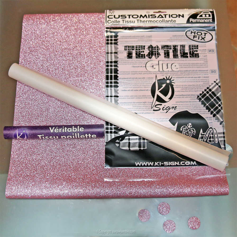 diy customisation t-shirt paillettes étape 2