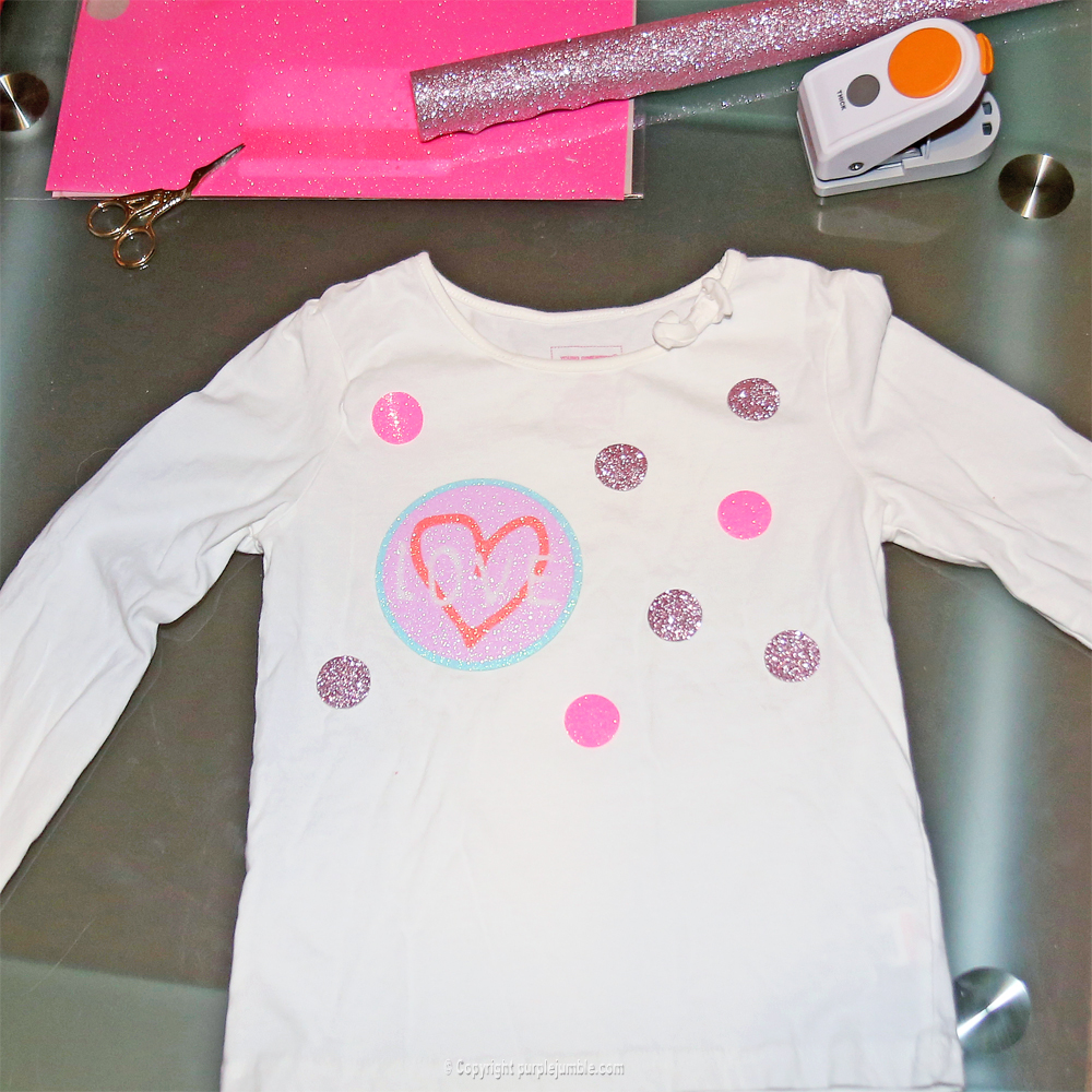 diy customisation t-shirt paillettes étape 4