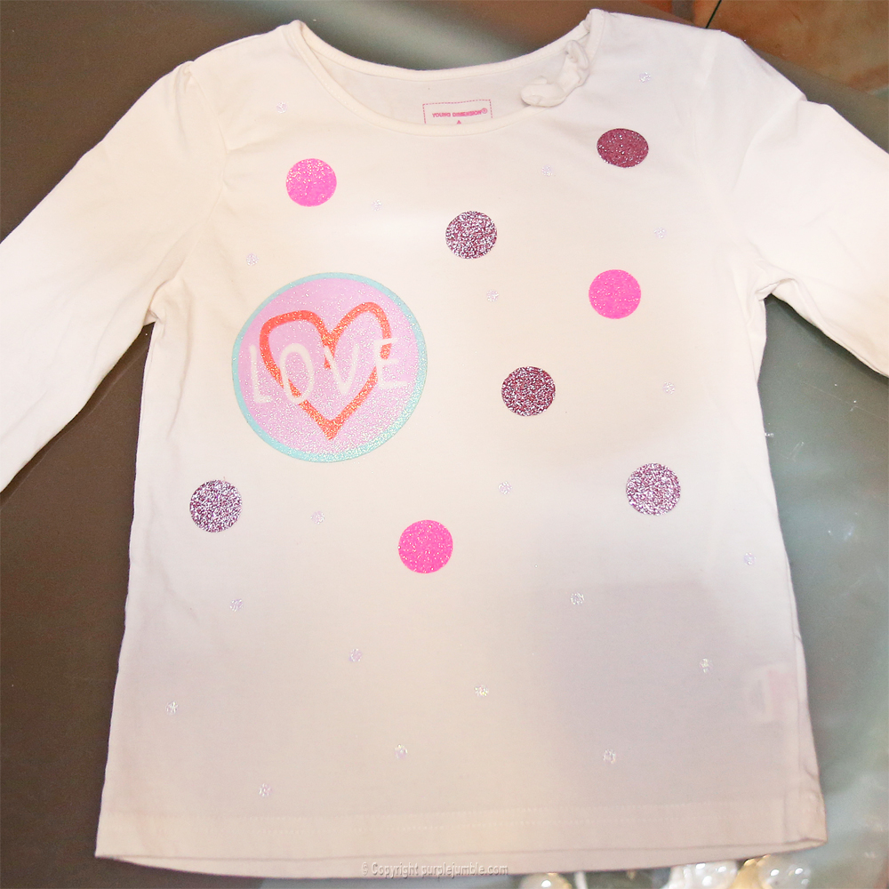 diy customisation t-shirt paillettes étape 7