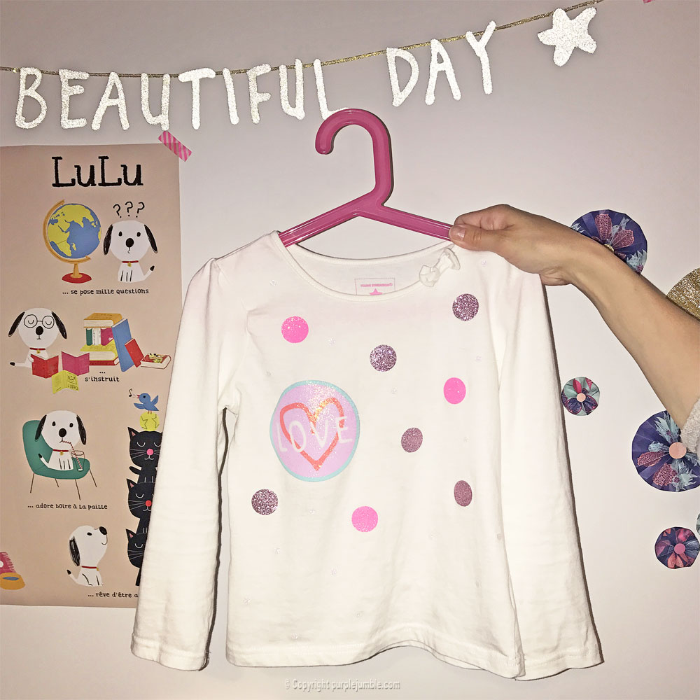 diy customisation t-shirt paillettes étape 8