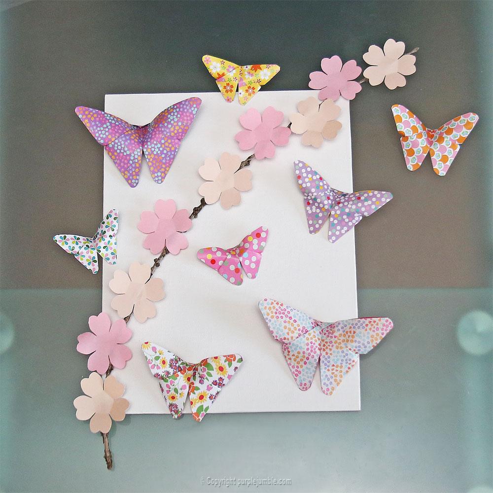 diy papillons origami