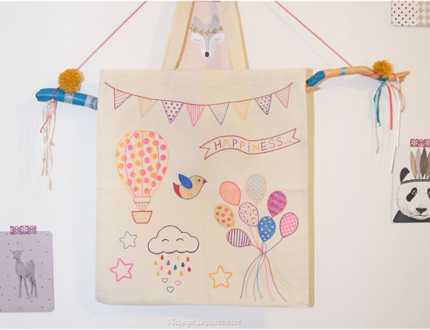 diy tote bag feutres projet diy photo finale
