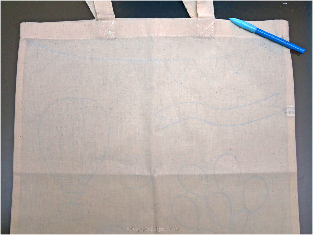 tote bag feutres projet diy crayon