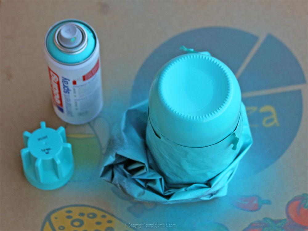 pot en verre décoré peinture
