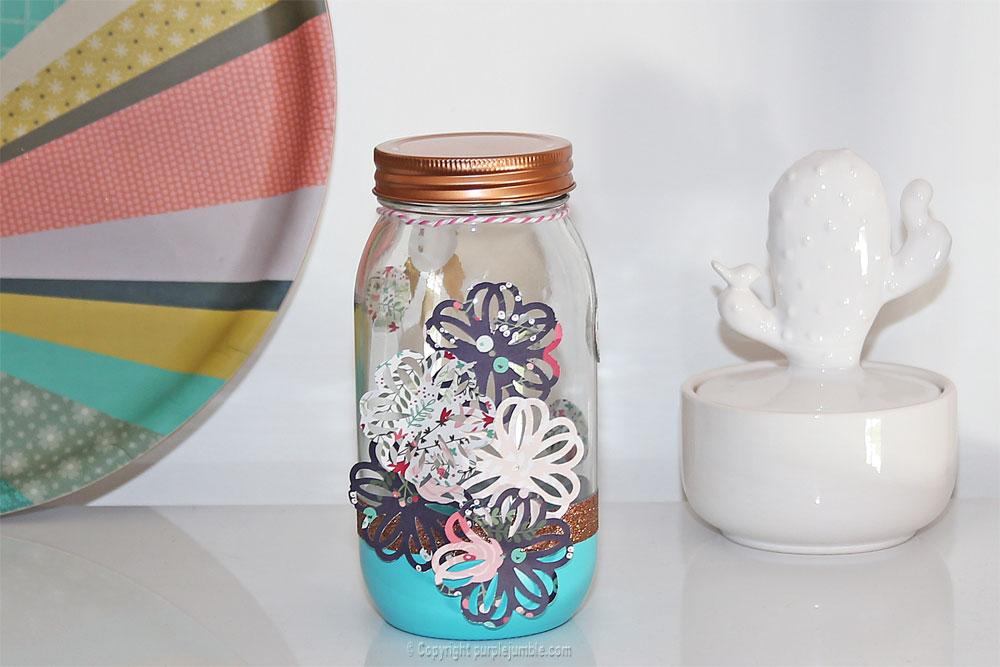 pot en verre décoré décoration