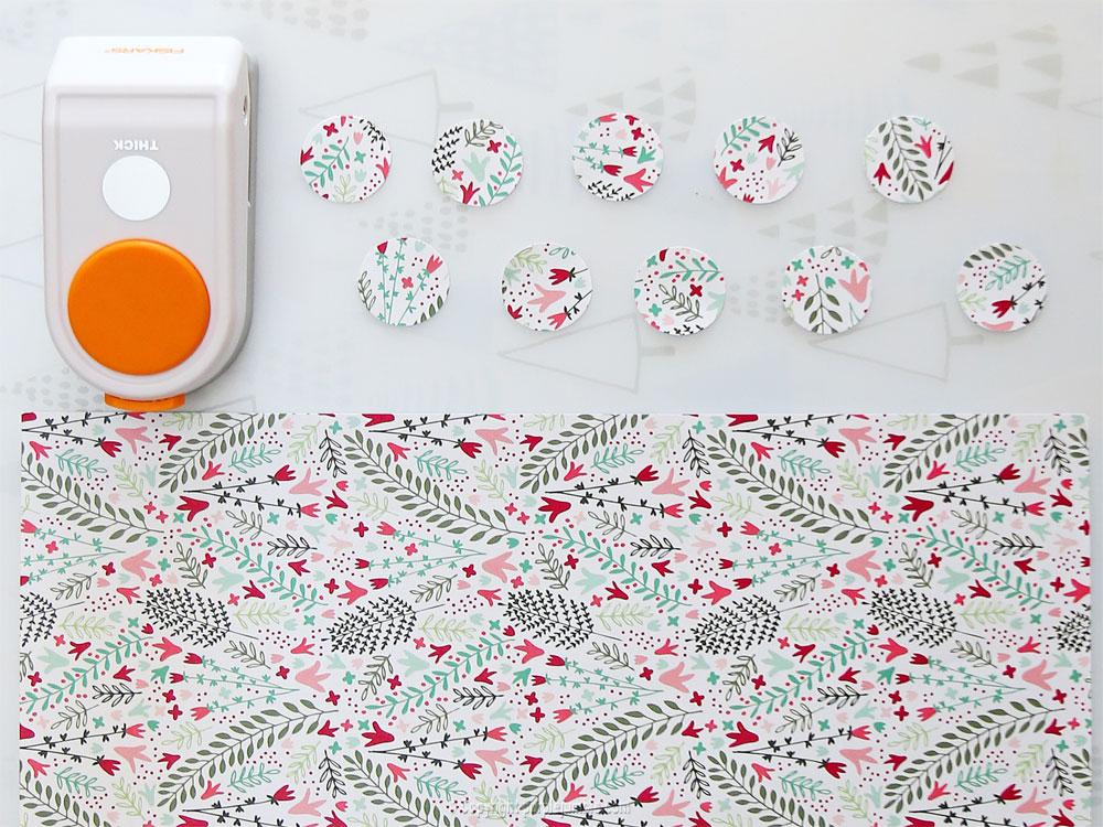 pot en verre décoré ronds papier