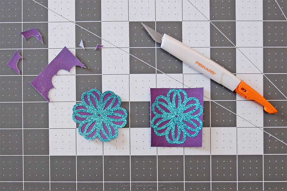 créations fleurs paillettes simili cuir
