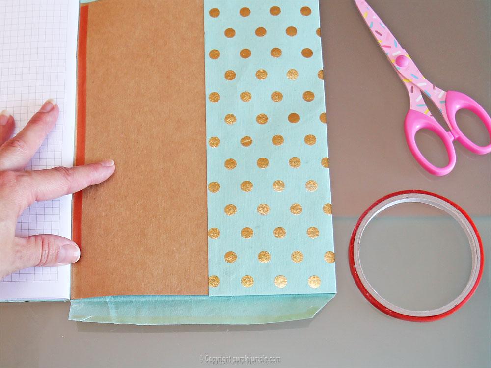diy toga cahier customisé bordure droite