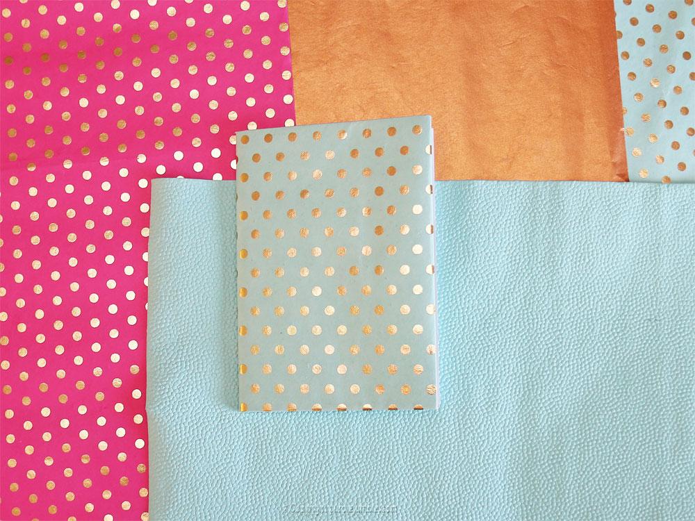 diy toga cahier customisé extérieur