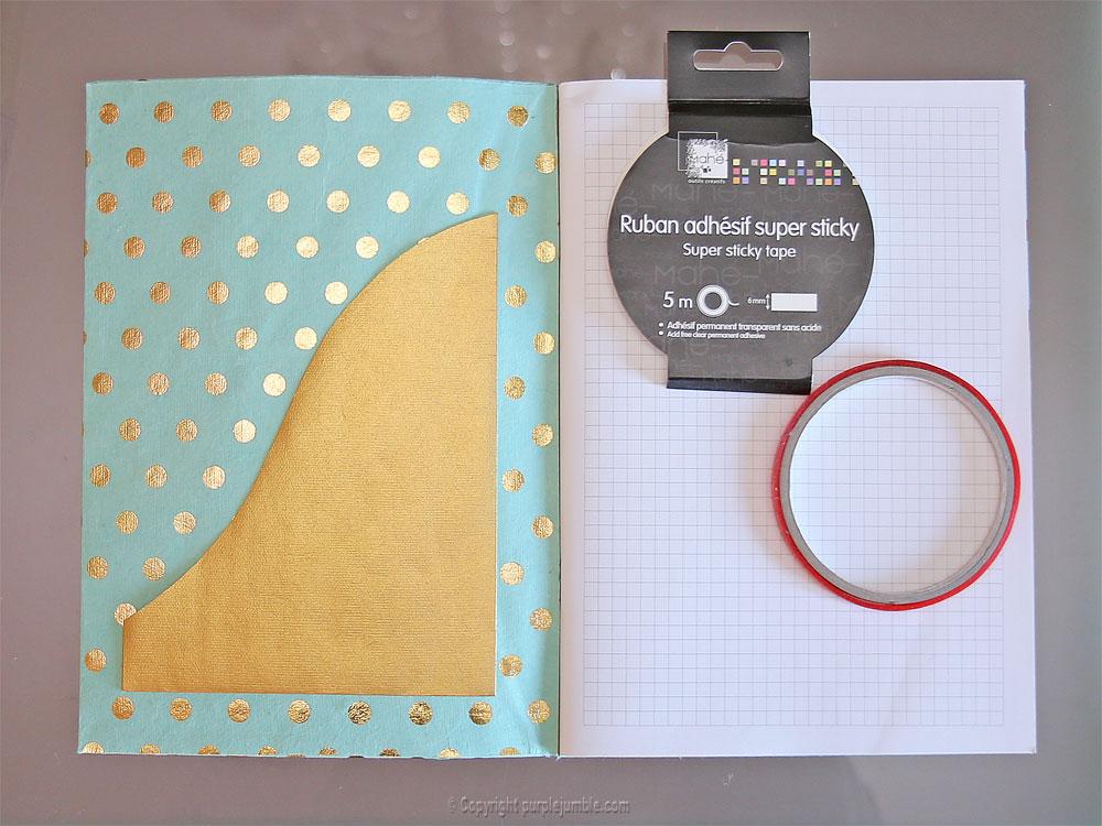 diy toga cahier customisé pochette collée