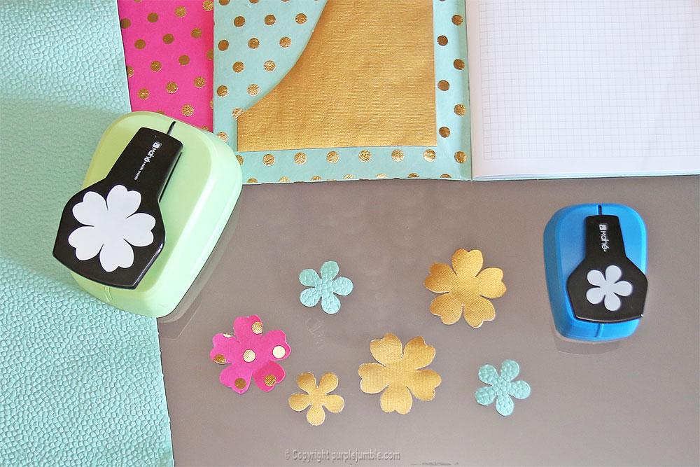 diy toga cahier customisé fleurs