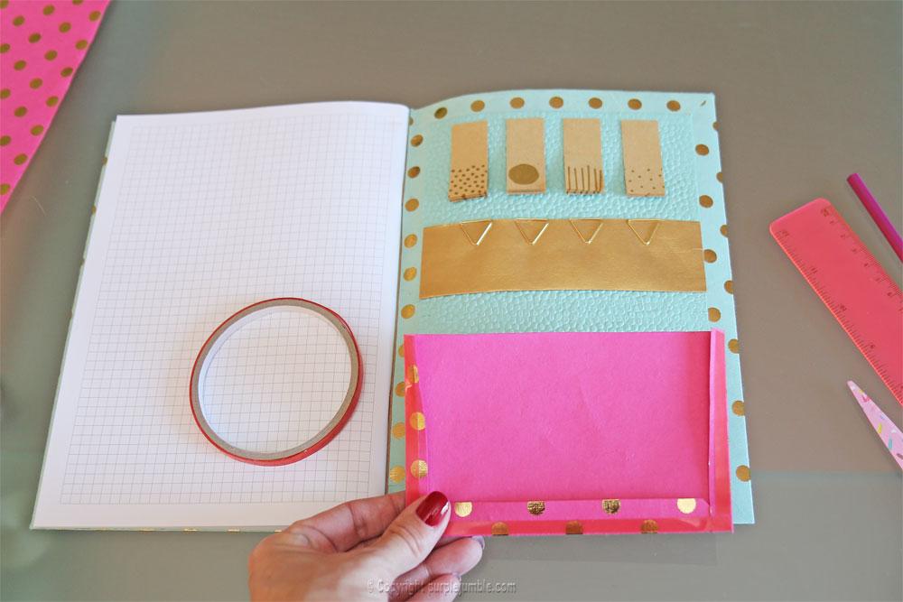 diy toga cahier customisé fushia