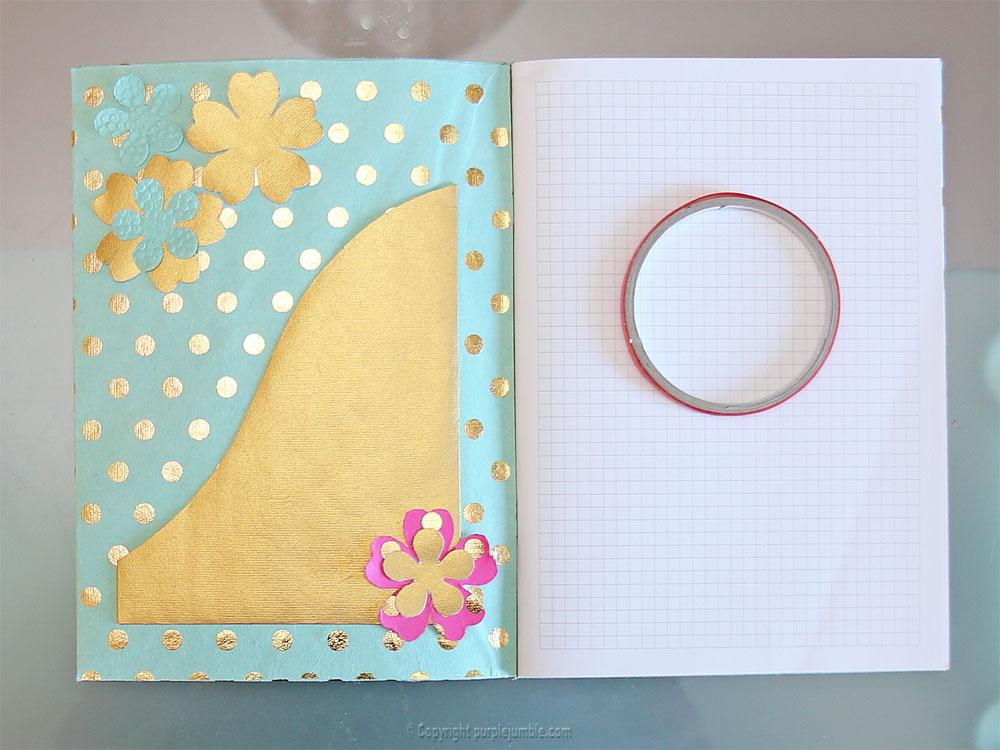 diy toga cahier customisé pochette fleurs