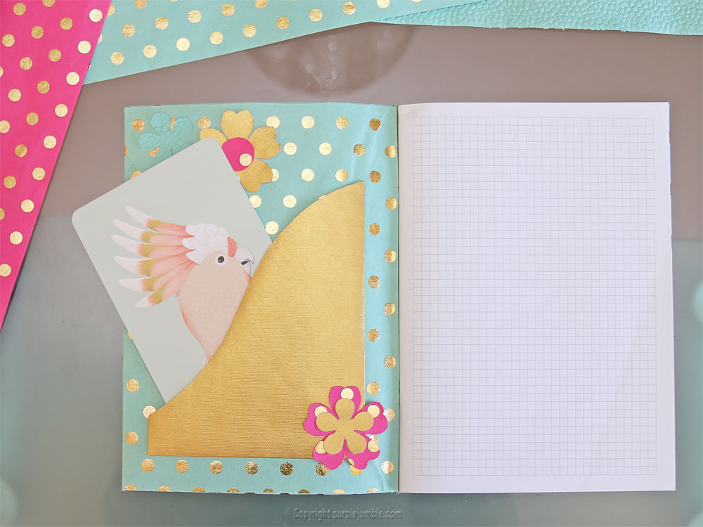 diy toga cahier customisé carte