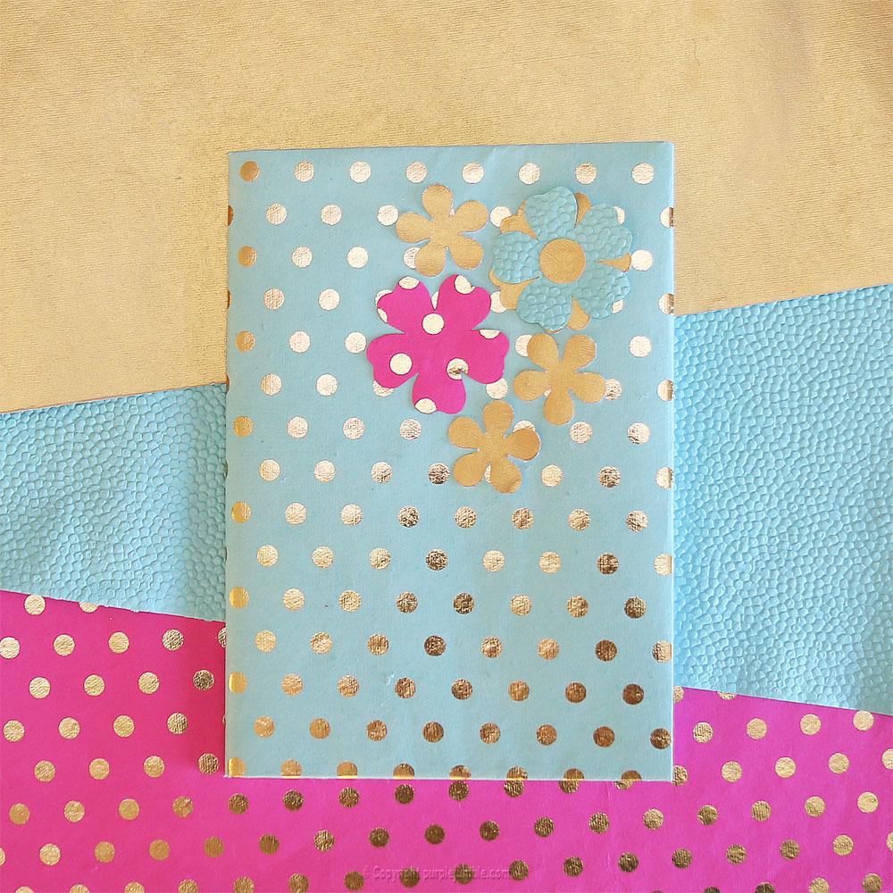 diy toga cahier customisé couverture fleurs