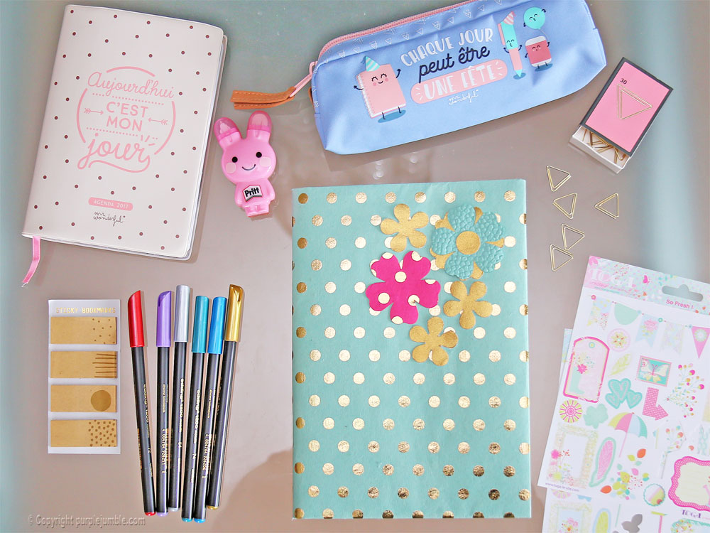 diy toga cahier customisé fini
