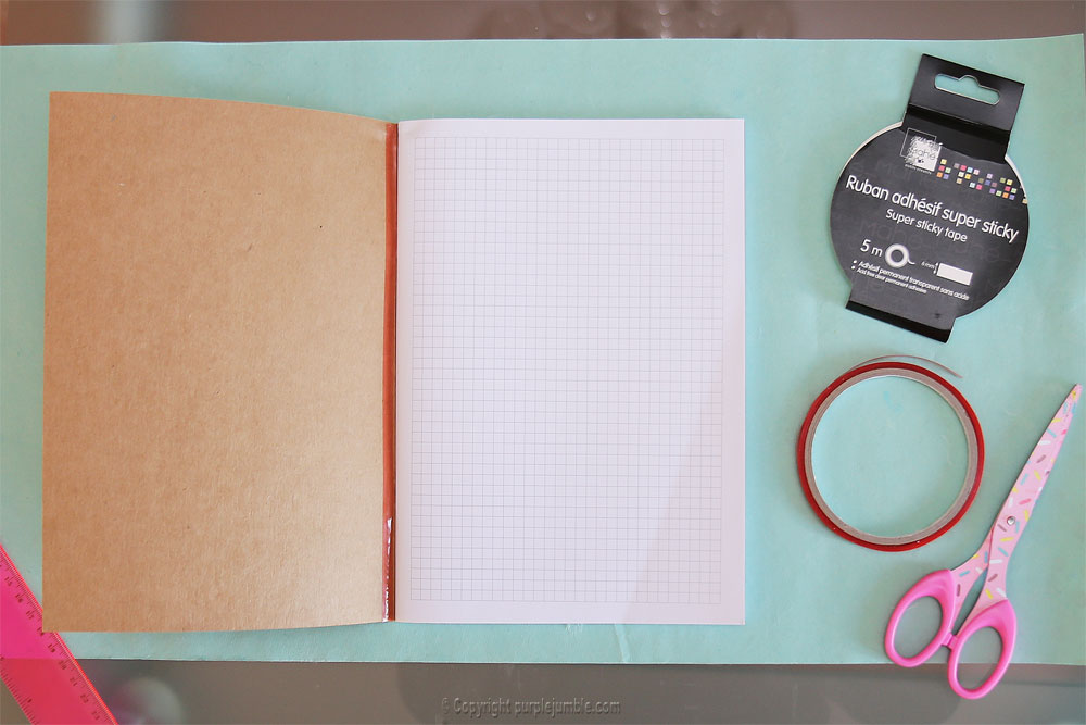 diy toga cahier customisé carnet