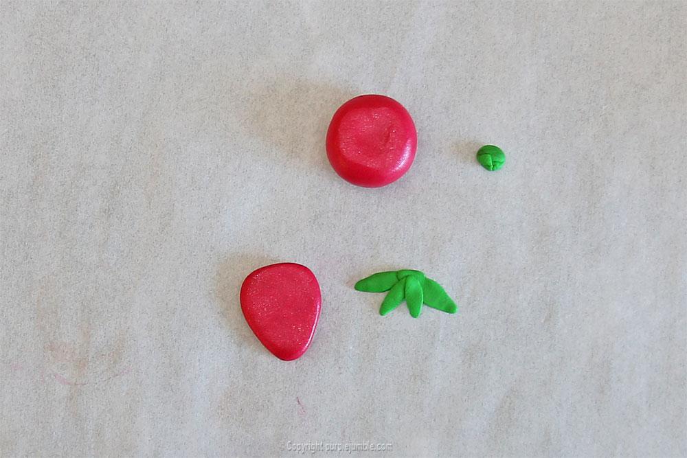fimo kawaii projet diy fraise 1