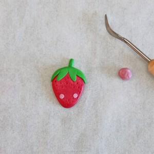 fimo kawaii projet diy fraise 3