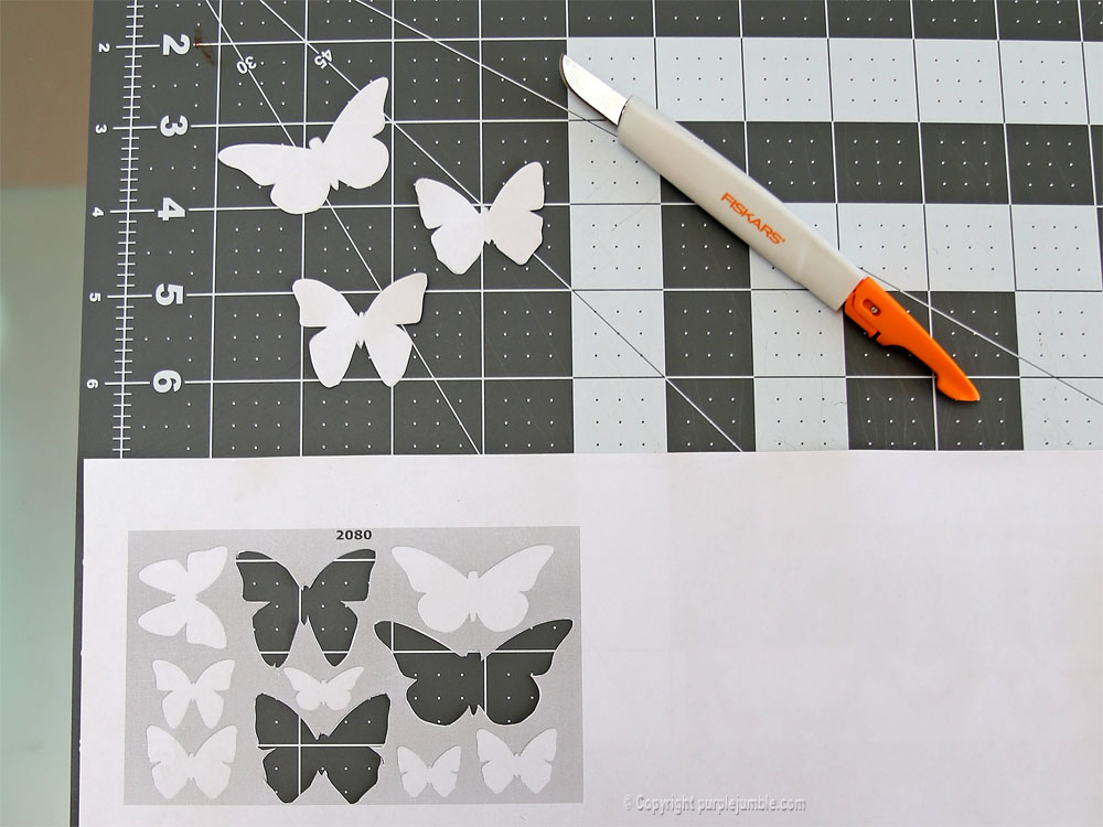 diy papillons papier gabarit