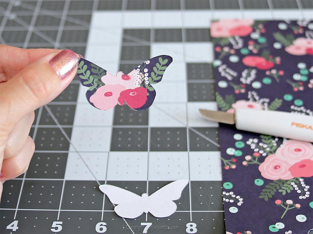 diy papillons papier terrarium modèle 1