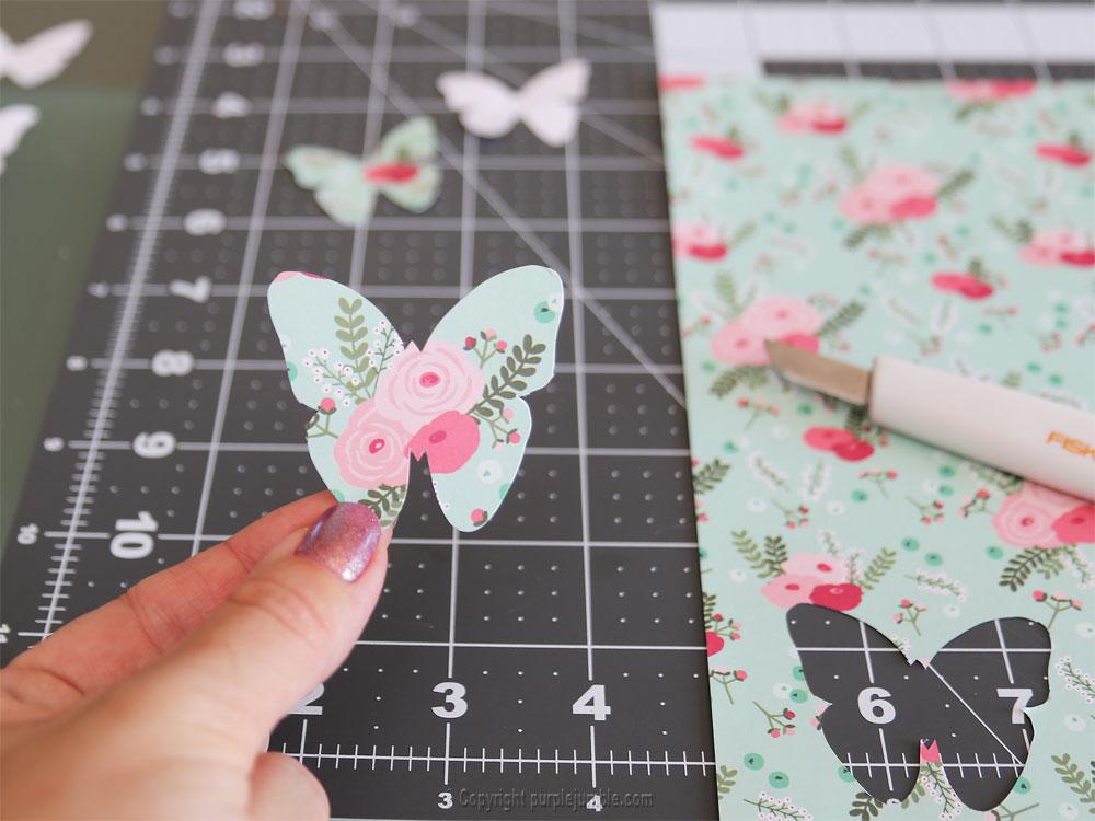 diy papillons papier terrarium modèle 2