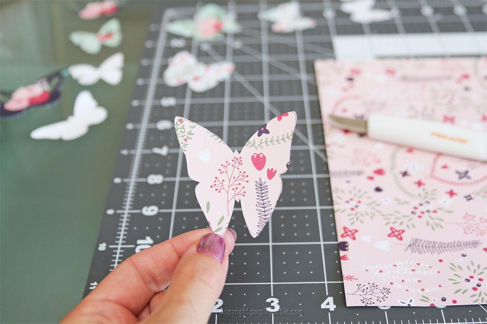 diy papillons papier terrarium modèle 4