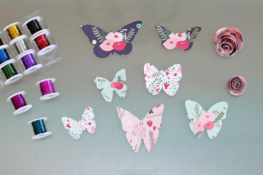 diy papillons papier terrarium découpes