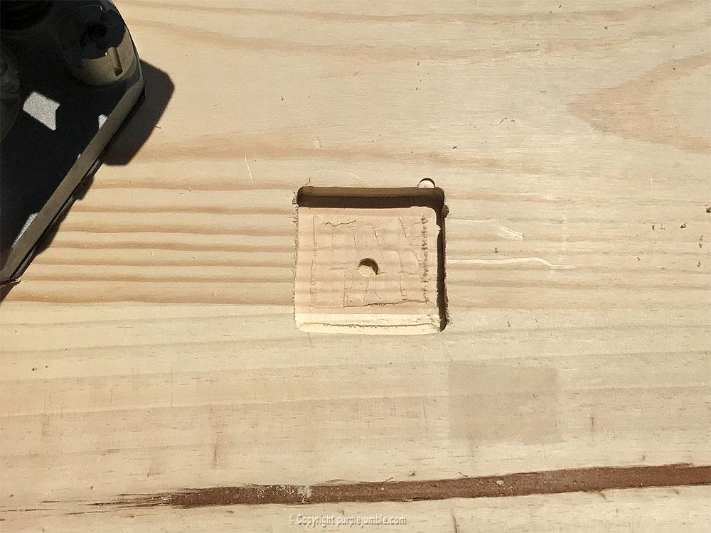 diy étagère bois horloge support