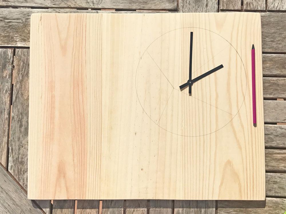 diy étagère bois horloge diy dessin