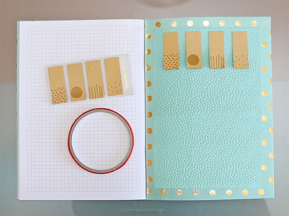 diy toga cahier customisé stickers