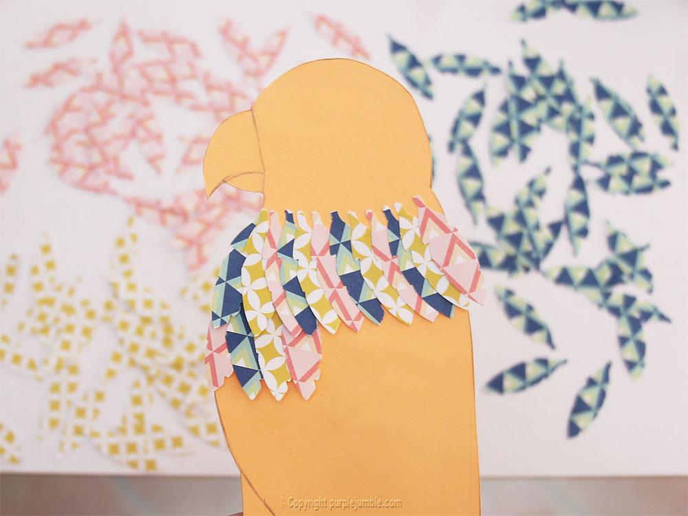 diy perroquet papercut collage
