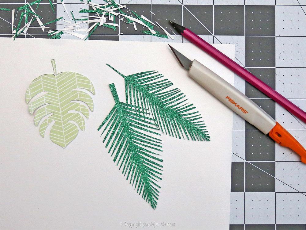 perroquet papercut feuilles papier