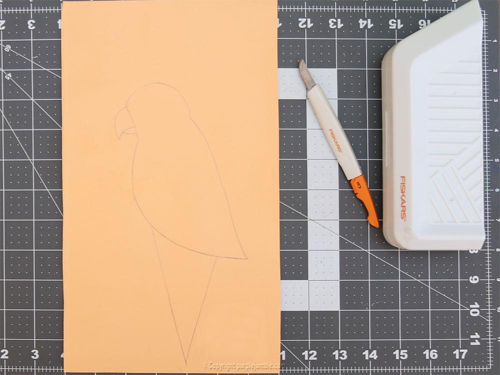 perroquet papercut dessin