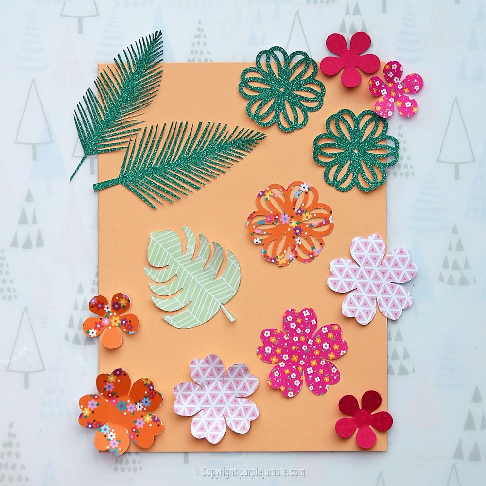 diy perroquet papercut fleurs