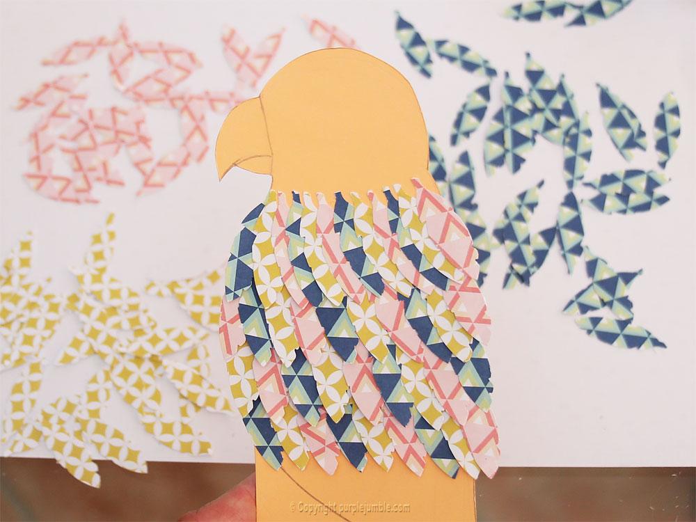 perroquet papercut ailes