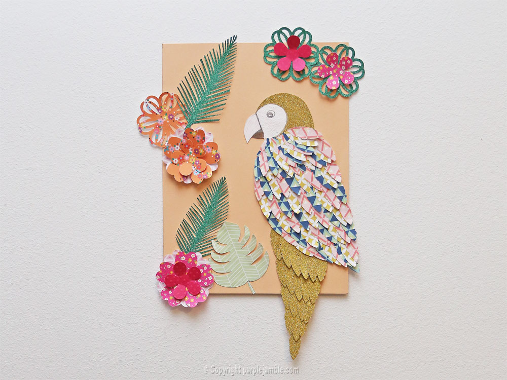 perroquet papercut mur