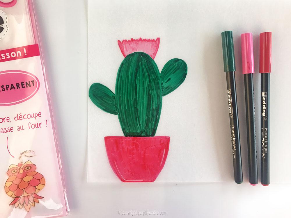 diy cadre cactus plastique dingue premier