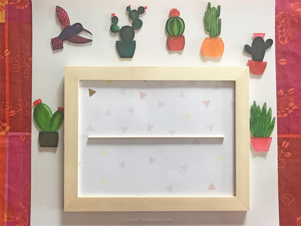 diy cadre cactus plastique dingue encadrement